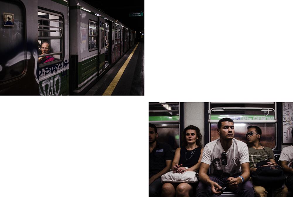 Nahia Garat photographe photographer Nouvelle Aquitaine bordeaux France french photographer presse press Milan couleur numérique Italie italia wandering lonely subway artistic portrait urban